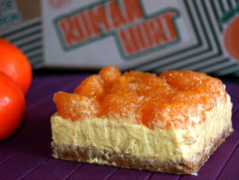 Cheesecake de calabaza y mandarina