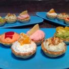 Tartaletas frías con base de queso