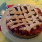 Tarta de fresas y pera