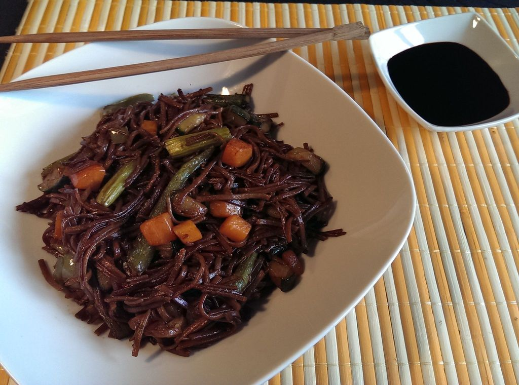 Soba noodles con verduras