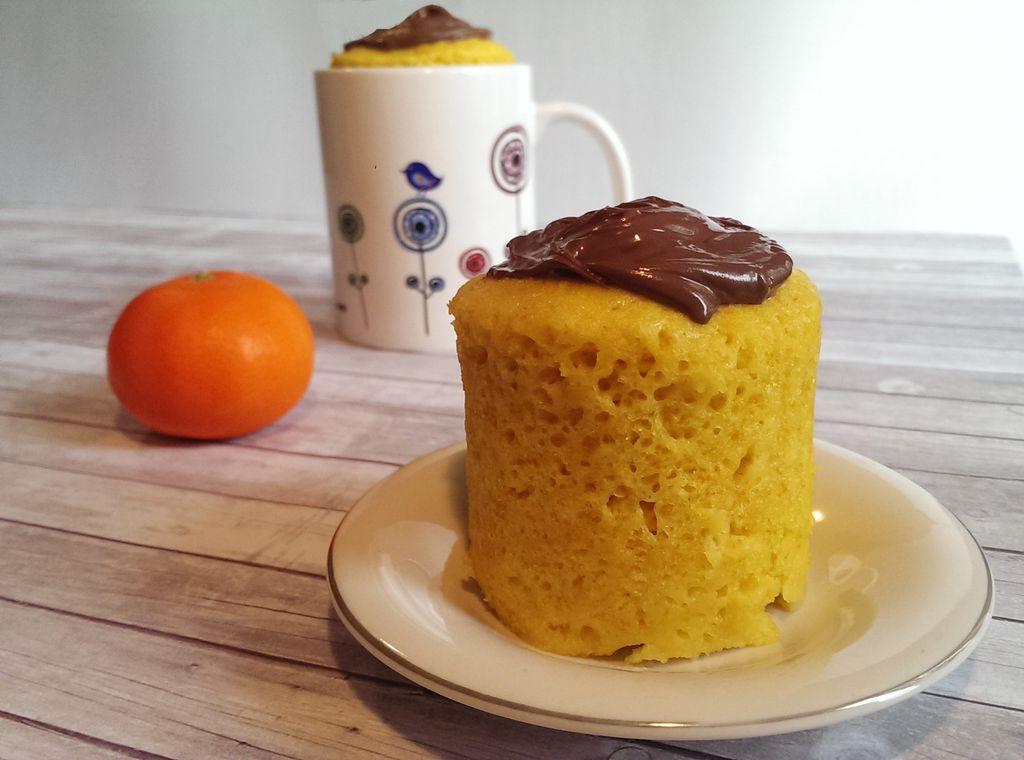 Mug Cake de mandarina