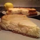 Tarta de limón y leche condensada (corte)