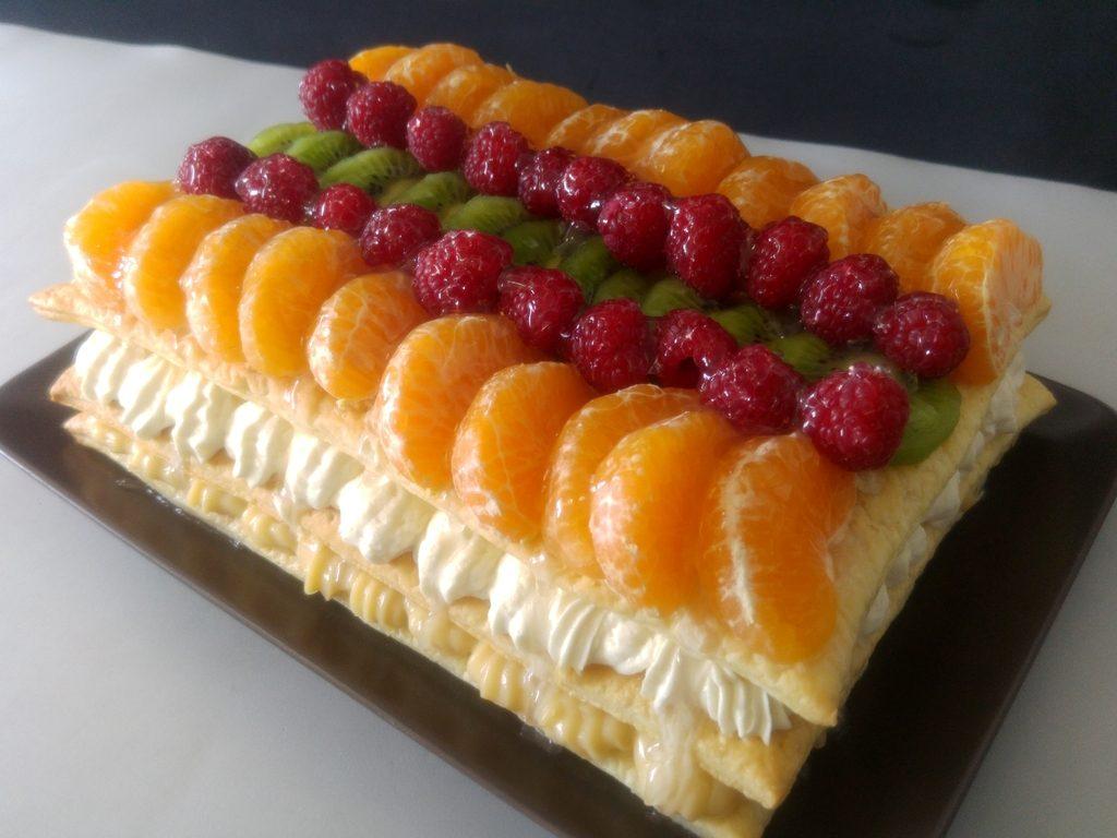Tarta Milhojas De Frutas Con Crema Y Nata El Recetario De Nachef