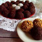 Trufas de chocolate y bizcocho