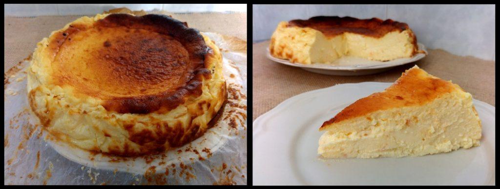 Tarta de queso - Rte La Viña - Desmoldada y Corte