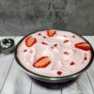 Helado de fresas y crème fraîche