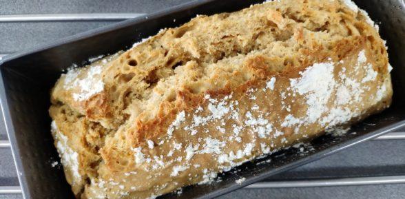 Pan de cerveza con harina común y levadura química