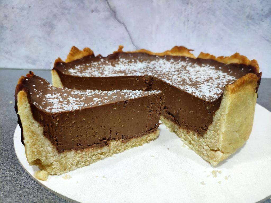 Tarta de chocolate y coco