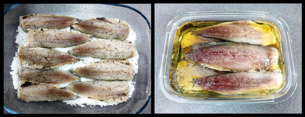 Sardinas marinadas (preparación)