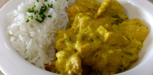 Pollo al curry de Madrás